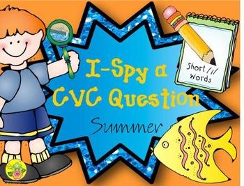I-Spy CVC Questions - Short /i/ Words (Summer Edition)
