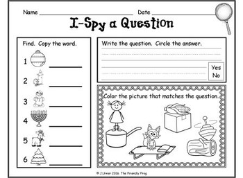 I-Spy CVC Questions - Short /o/ Words (December Edition)