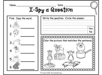 I-Spy CVC Questions - Short /o/ Words (March Edition)