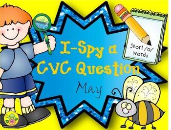 I-Spy CVC Questions - Short /o/ Words (May Edition)