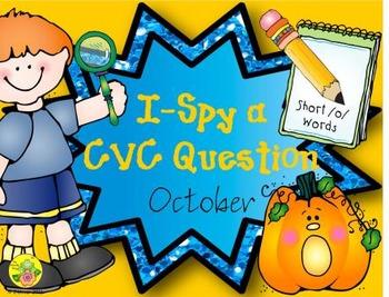 I-Spy CVC Questions - Short /o/ Words (October Edition)