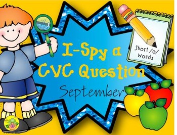 I-Spy CVC Questions - Short /o/ Words (September Edition)