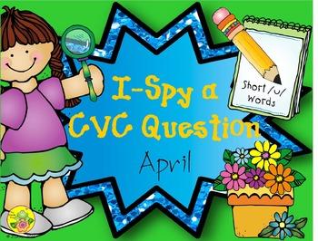 I-Spy CVC Questions - Short /u/ Words (April Edition)