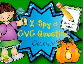 I-Spy CVC Questions - Short /u/ Words (October Edition)