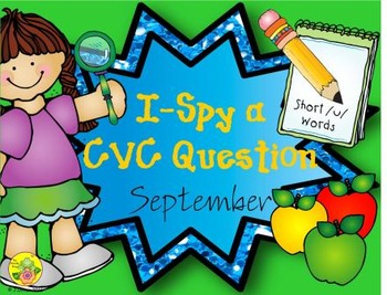 I-Spy CVC Questions - Short /u/ Words (September Edition)