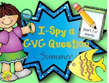 I-Spy CVC Questions - Short /u/ Words (Summer Edition)