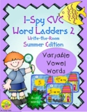 I-Spy CVC Rebus Word Ladders - Variable Vowel Words (Summe