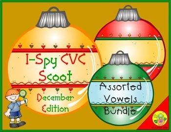 I-Spy CVC Scoot - Assorted Vowels Bundle (December Edition)
