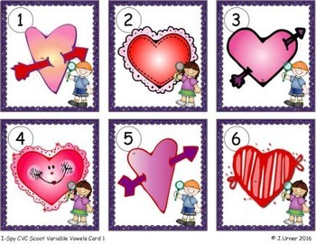 I-Spy CVC Scoot - Assorted Vowels Bundle (February Edition)