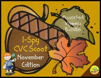 I-Spy CVC Scoot - Assorted Vowels Bundle (November Edition)