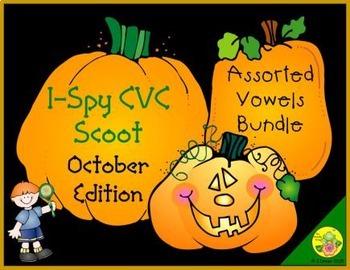 I-Spy CVC Scoot - Assorted Vowels Bundle (October Edition)