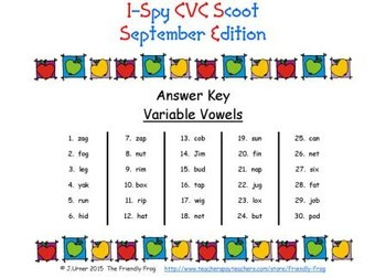 I-Spy CVC Scoot - Assorted Vowels Bundle (September Edition)