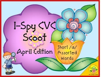 I-Spy CVC Scoot - Short /a/ Assorted Words (April Edition)