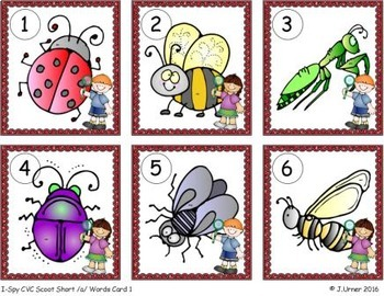 I-Spy CVC Scoot - Short /a/ Assorted Words (May Edition)