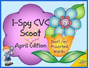 I-Spy CVC Scoot - Short /e/ Assorted Words (April Edition)