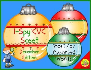 I-Spy CVC Scoot - Short /e/ Assorted Words (December Edition)