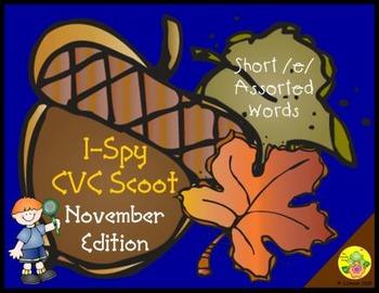I-Spy CVC Scoot - Short /e/ Assorted Words (November Edition)