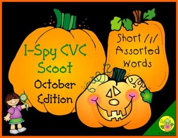 I-Spy CVC Scoot - Short /i/ Assorted Words (October Edition)