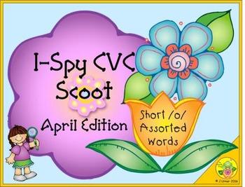 I-Spy CVC Scoot - Short /o/ Assorted Words (April Edition)