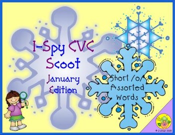 I-Spy CVC Scoot - Short /o/ Assorted Words (January Edition)