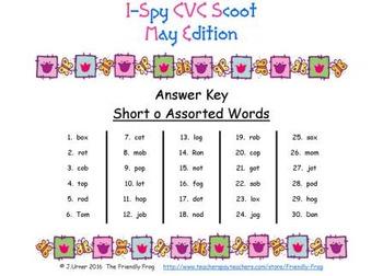 I-Spy CVC Scoot - Short /o/ Assorted Words (May Edition)