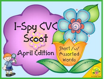 I-Spy CVC Scoot - Short /u/ Assorted Words (April Edition)