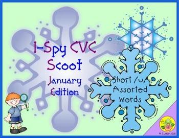 I-Spy CVC Scoot - Short /u/ Assorted Words (January Edition)