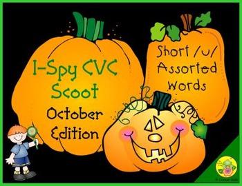 I-Spy CVC Scoot - Short /u/ Assorted Words (October Edition)