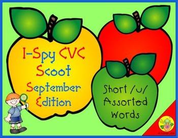 I-Spy CVC Scoot - Short /u/ Assorted Words (September Edition)