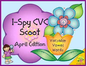 I-Spy CVC Scoot - Variable Vowel Words (April Edition)