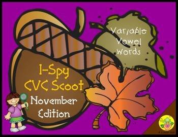 I-Spy CVC Scoot - Variable Vowel Words (November Edition)