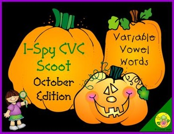 I-Spy CVC Scoot - Variable Vowel Words (October Edition)