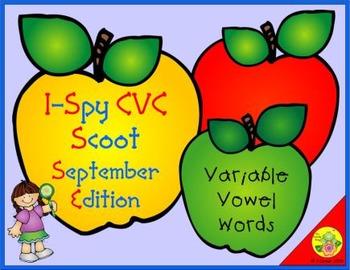 I-Spy CVC Scoot - Variable Vowel Words (September Edition)