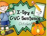 I-Spy CVC Sentence Building Bundle (October Edition)