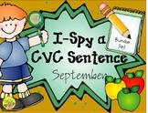 I-Spy CVC Sentence Building Bundle (September Edition)