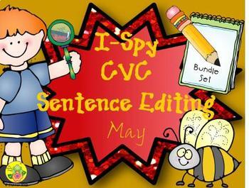 I-Spy CVC Sentence Editing Bundle (May Edition)