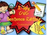 I-Spy CVC Sentence Editing - Short /e/ Words (Summer Edition)