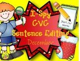 I-Spy CVC Sentence Editing - Short /o/ Words (December Edition)