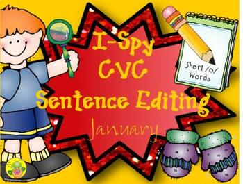 I-Spy CVC Sentence Editing - Short /o/ Words (January Edition)