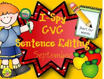 I-Spy CVC Sentence Editing - Short /o/ Words (September Edition)