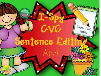 I-Spy CVC Sentence Editing - Short /u/ Words (April Edition)