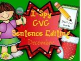 I-Spy CVC Sentence Editing - Short /u/ Words (December Edition)