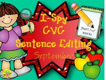 I-Spy CVC Sentence Editing - Short /u/ Words (September Edition)