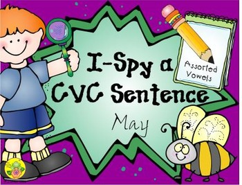 I-Spy CVC Sentences - Assorted Vowels (May Edition)