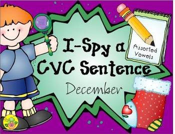 I-Spy CVC Sentences - Assorted Vowels (December Edition)