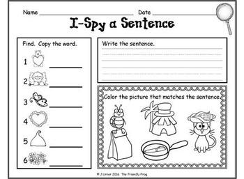 I-Spy CVC Sentences - Assorted Vowels (February Edition)