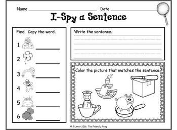 I-Spy CVC Sentences - Assorted Vowels (March Edition)