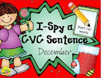 I-Spy CVC Sentences - Short /a/ Words (December Edition)
