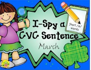 I-Spy CVC Sentences - Short /e/ Words (March Edition)