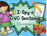 I-Spy CVC Sentences - Short /e/ Words (November Edition)